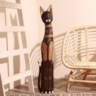 """Сувенир дерево """"Кошка ажурная. Восточная сказка"""" 100х18х6,5 см"""