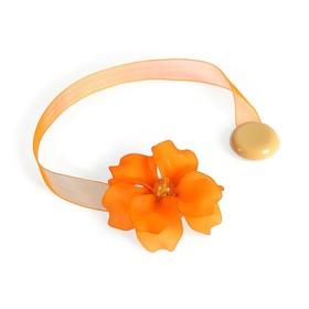 Подхват для штор на ленте 'Нежный цветок', цвет кремово-оранжевый Ош