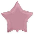 """Шар фольгированный 18"""" """"Звезда"""", пастель, цвет розовый"""