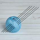 Спицы для вязания, чулочные, d=1,5мм, 19,5см, 5шт