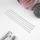 Спицы для вязания, С-388 МПИ, чулочные, d=1,8мм, 19,5см, цвет серебристый