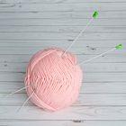 Спицы для вязания, С-378 МПИ, прямые, с полимерным покрытием, d=2,5мм, 33см, цвет белый
