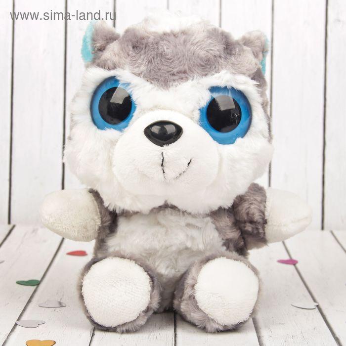 """Мягкая игрушка-подвеска """"Хаски"""", большие голубые глазки"""