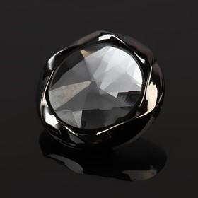 Пуговица декоративная, d=30мм, цвет чёрный