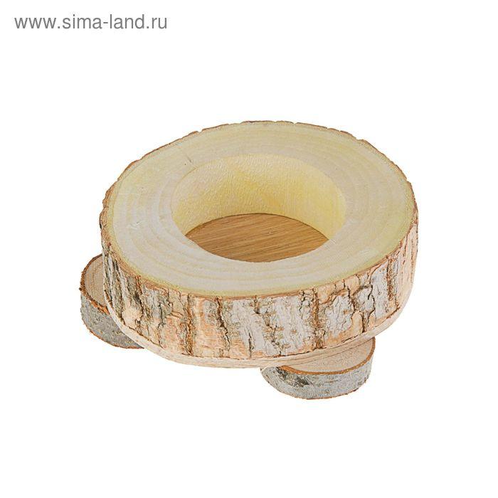 Кормушка для грызунов на подставках, 10 х 9,5 х 3,5 см, дерево