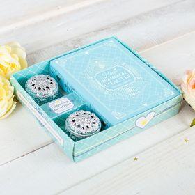 """Подарочный набор """"Наше маленькое счастье"""": фотоальбом на 36 фото и две шкатулки в коробке"""