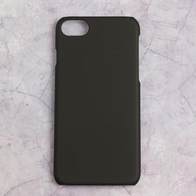 Чехол-крышка DF iSlim-05 для iPhone 7, soft-touch покрытие, черный Ош