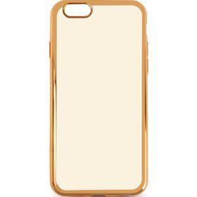 Чехол-крышка DF iCase-08 для iPhone 7, силиконовый, с рамкой, золотой Ош