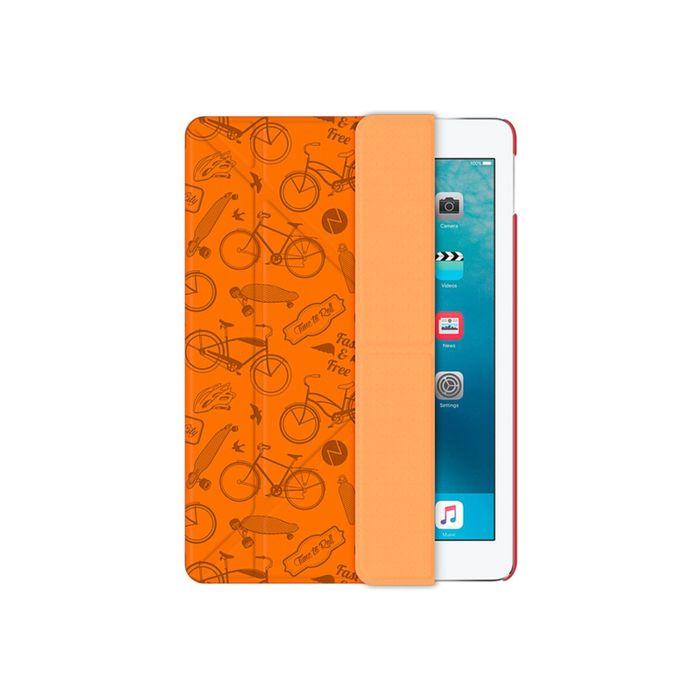 Чехол Deppa (88024) iPad Pro 9.7, Wallet Onzo c тиснением, оранжевый