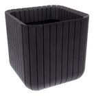 Кашпо Wood Planter M куб