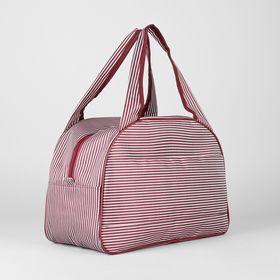 f48dacebb113 Сумка дорожная на молнии, 1 отдел, держатель для чемодана, цвет  белый/бордовый