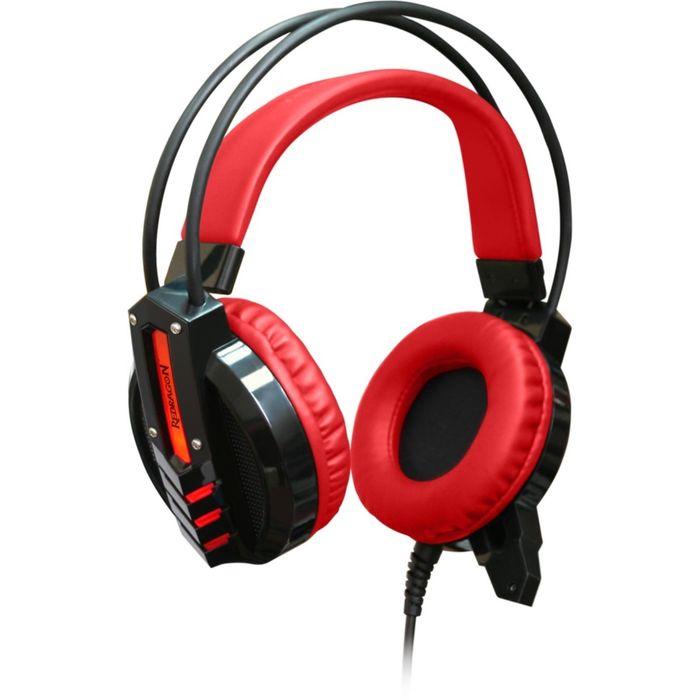 Гарнитура игровая Redragon Chronos, подсв. корпуса, кабель 2,5 м, красная/черная