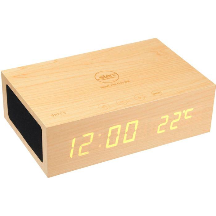 Акустическая система Stenn W1 Bluetooth, USB, 2x3 Вт, часы, будильник, термометр