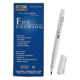 Ручка-кисть капиллярная Marvy Brush вод.основа, черный MAR4600/B