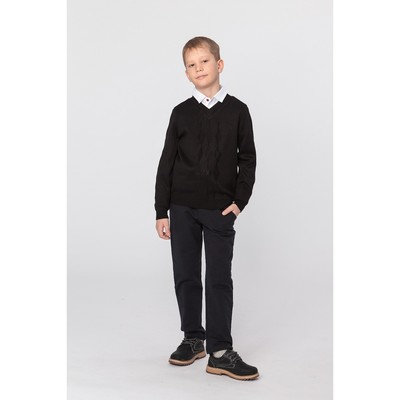 Джемпер для мальчика, рост 152 см, цвет чёрный 644
