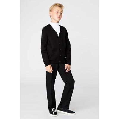 Жакет для мальчика, рост 134 см, цвет чёрный 647