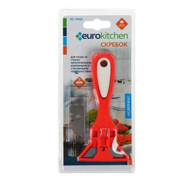 Скребок для стеклокерамических плит Euro Kitchen цвет красный/белый, 1 шт(+ 5 лезвий)