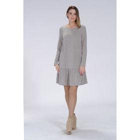 Платье женское, размер 44, рост 164 см, цвет серый 6430