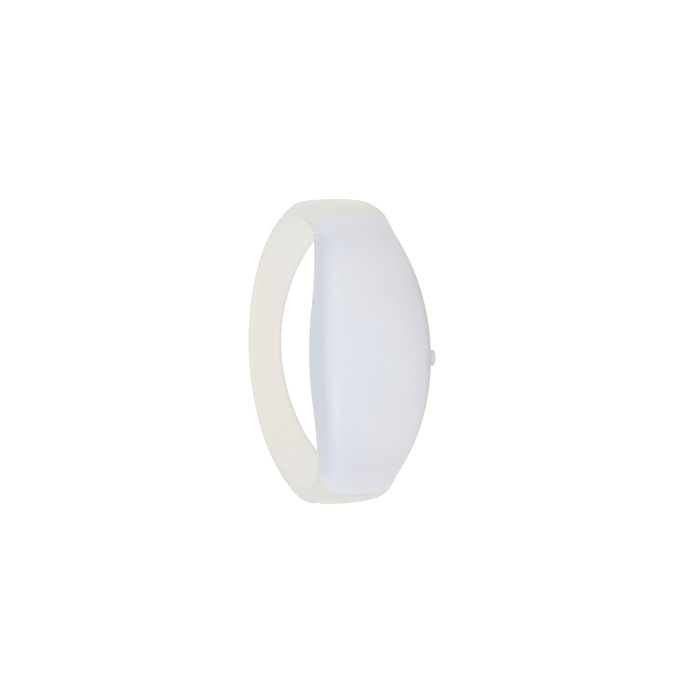 Браслет-стробоскоп реагирует на звук, 3 LED, батарейки в комплекте (2 x CR 1625), БЕЛЫЙ