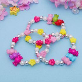 Браслет детский 'Выбражулька' конфетки-цветочки, цвет микс Ош