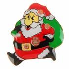 """Значок световой """"Дед Мороз"""" с мешком"""