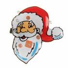 """Значок световой """"Дед Мороз"""" с бородой"""