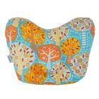 Подушка анатомическая «Фруктовый сад», 20х25 см, цвет голубой