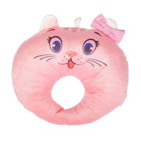Подушка под шею детская «Кошечка», цвет розовый