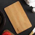 Доска разделочная, 25х15х1 см, бамбук