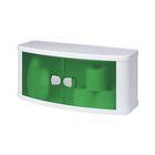 Шкаф настенный подвесной с дверками, цвет зелёный