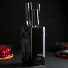 Набор из 5 кухонных ножей с универсальным керамическим блоком KEIKO