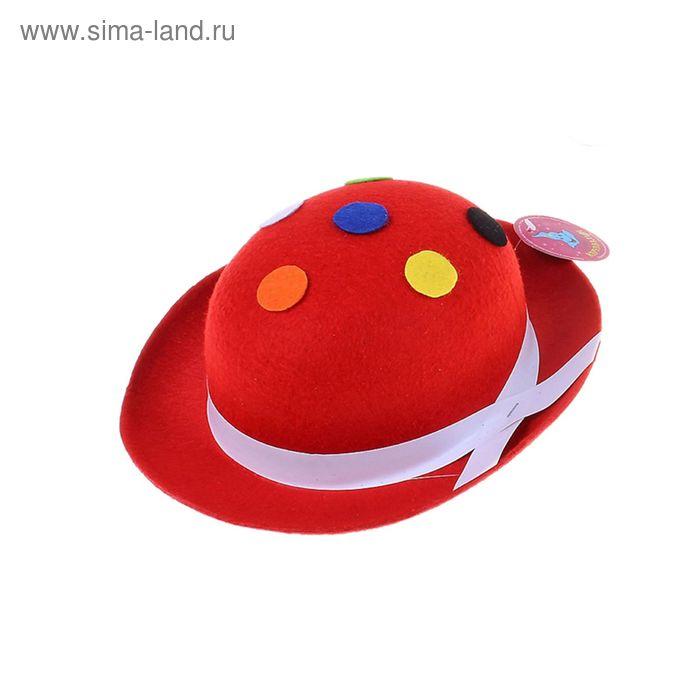 Карнавальная шляпка с горошком, цвета МИКС