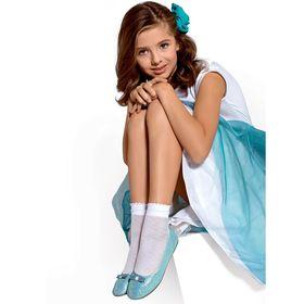 Носки для девочек нарядные BONY 30 ден цвет белый (bianco), р-р 18-20 Ош