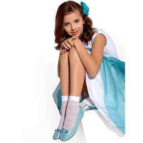 Носки для девочек нарядные FIORI 30 ден цвет белый (bianco), р-р 18-20 Ош