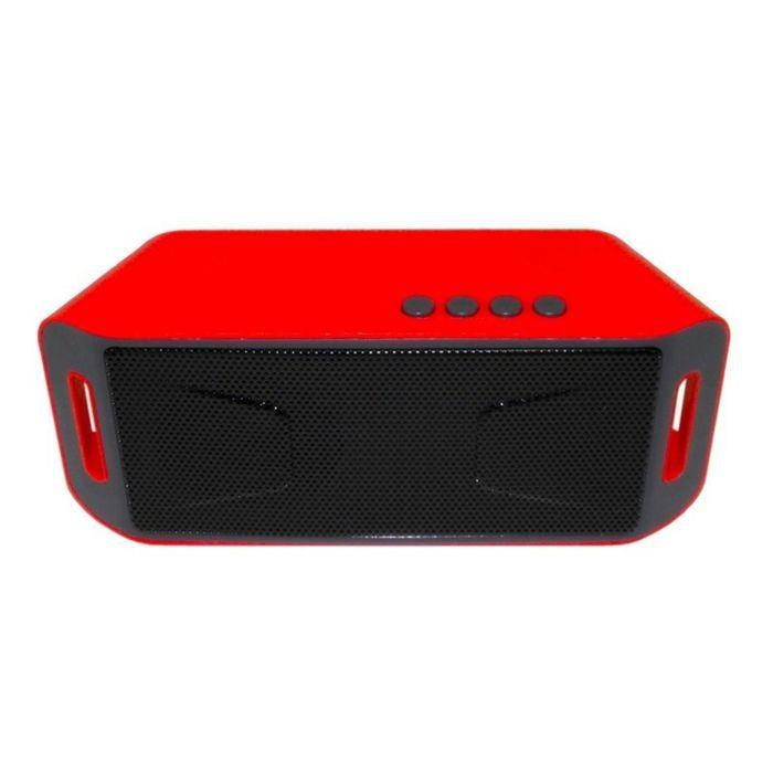 Портативная акустика Model-mini X8U-C, Bluetooth, USB, micro SD, FM, красная