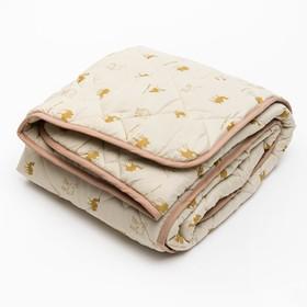 Одеяло 140*205 полиэстер, верблюжья шерсть 300г/м, сумка, МИРОМАКС