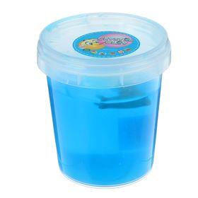 Лизун в банке твердый с игрушкой 400 мл, цвет синий
