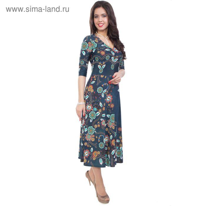 Платье женское, размер 50, цвет синий П4-3645