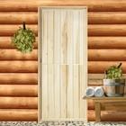 """Дверь для бани """"ЭКОНОМ"""", горизонталь, 160х80см"""
