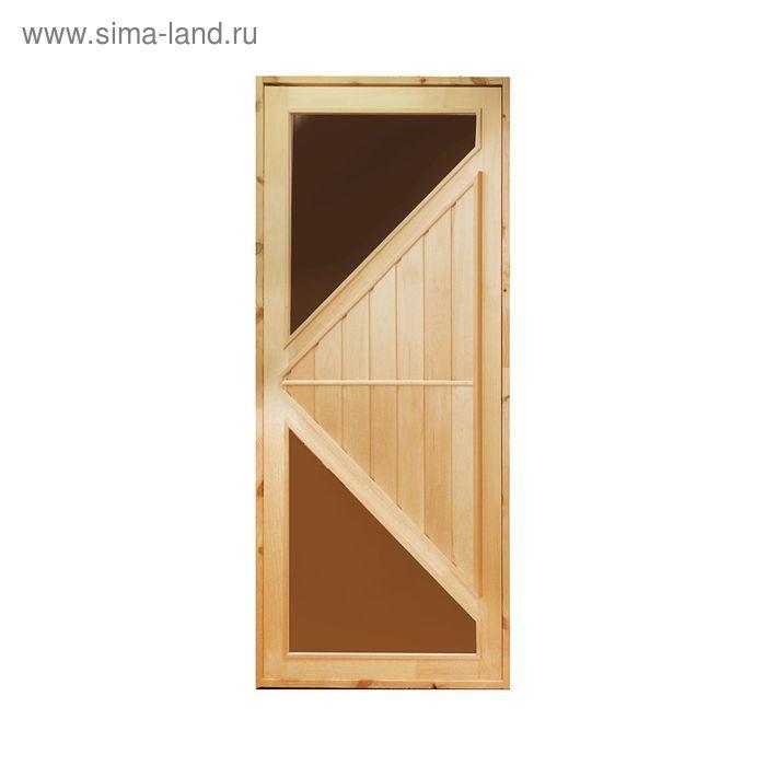 """Дверь со стеклом """"Углы"""" 160х80"""