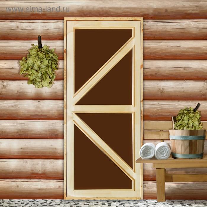 """Дверь со стеклом """"Бавария""""180х80"""