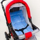 Набор для детской коляски, 2 предмета ( подушка-40х40, матрас-40х70) цвет голубой 22102