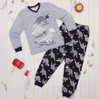 Пижама для мальчика, рост 140 см, цвет серый Меланж CAJ 5298