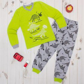 Пижама для мальчика, рост 140 см, цвет салатовый CAJ 5298