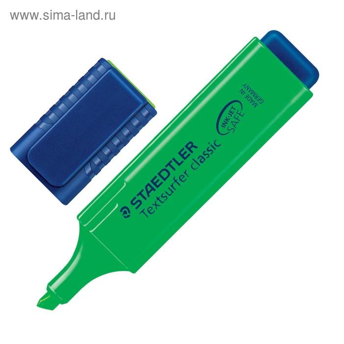 Маркер-текстовыделитель 5.0 мм Staedtler Textsurfer classic, флюоресцент зелёный 364-5