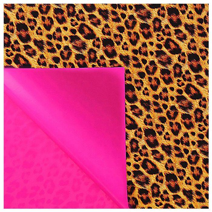 """Бумага упаковочная глянцевая """"Леопард"""" (двухсторонняя ), 70 х100 см, 80 г/м2"""