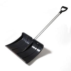 Лопата пластиковая «Снеговик», 500 × 375 мм, с алюминиевой планкой, алюминиевый черенок Ош