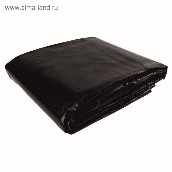Тент защитный, 10 х 12 м, плотность 280 г/м², чёрный