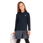 """Платье для девочки """"Школьная пора"""", рост 128 см (64), цвет тёмно-серый, принт сердце ДПД6858 26263"""