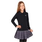 """Платье для девочки """"Школьная пора"""", рост 122 см (62), цвет антрацит, принт серце ДПД685858"""